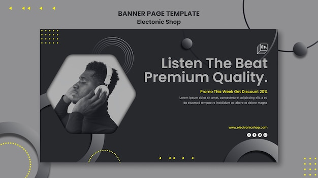 Banner electronic shop template