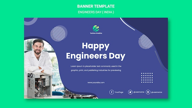Banner for engineers day celebration