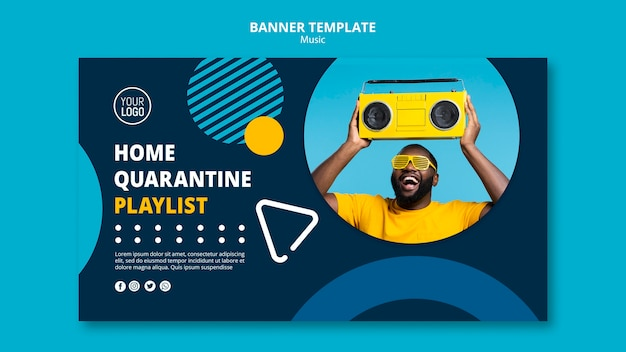Banner for enjoying music during quarantine
