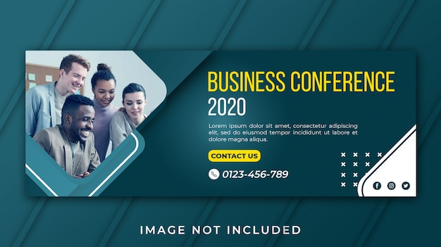Banner facebook business conference