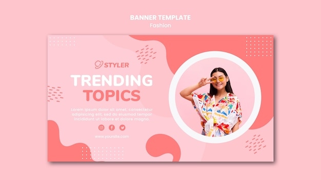 Banner fashion ad template