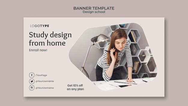 Banner fashion design school template