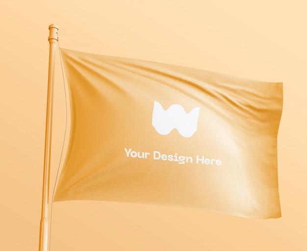 Баннер флаг макет
