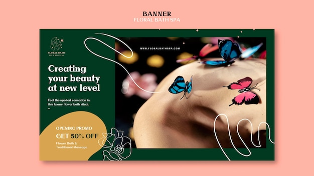 Banner floral spa template