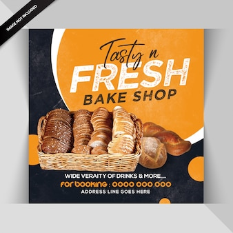 Banner or flyer template for restaurant