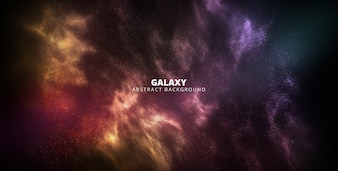 Баннер галактики абстрактный фон