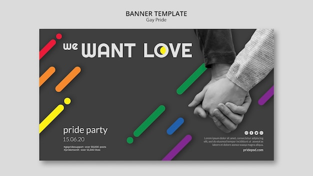 Banner for gay pride