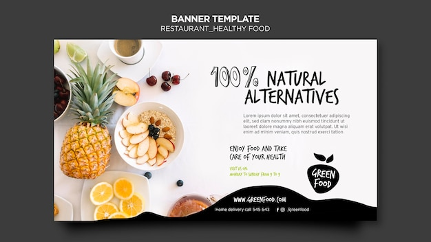 Banner healthy food template