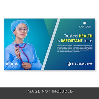 Banner healthy and medical blue template