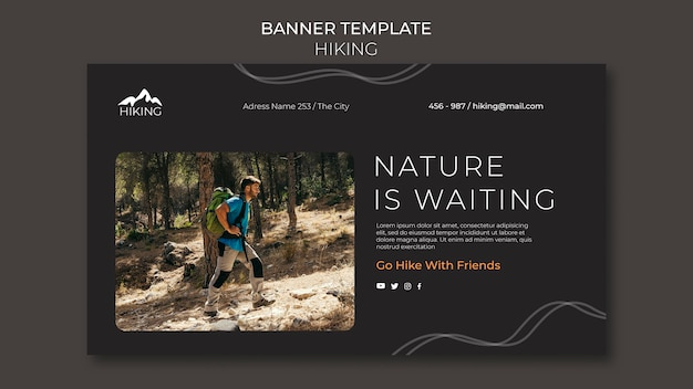 Banner hiking ad template