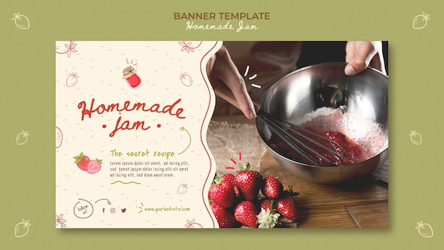 Banner homemade jam template