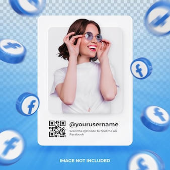 Banner icon profile on facebook 3d rendering label isolated