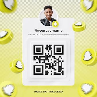 Профиль значок баннера на snapchat 3d-рендеринга этикетки изолированные