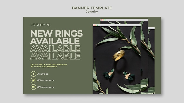 Banner jewelry store template