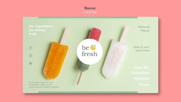 Banner juice bar template