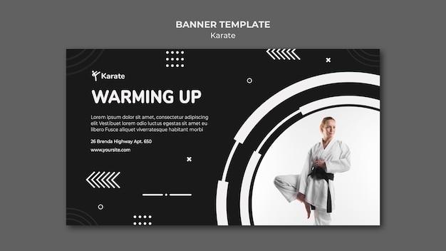 Modello di classe di karate banner