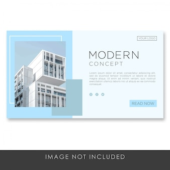 Banner landing page architecture modern concept template