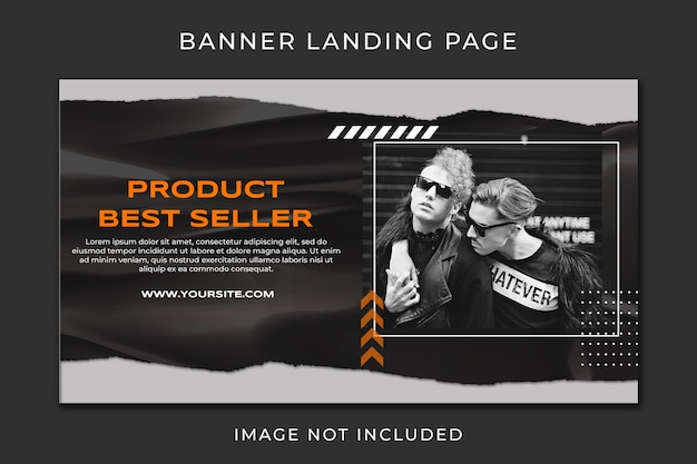 Banner landing page best product fashion sale template