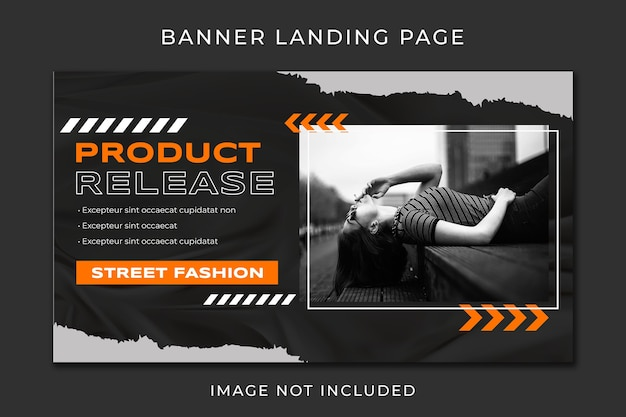 Banner landing page fashion modern template