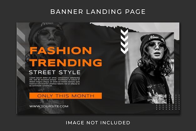 Banner landing page urban fashion template