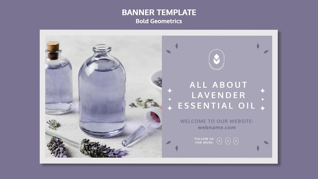 Banner lavender oil template