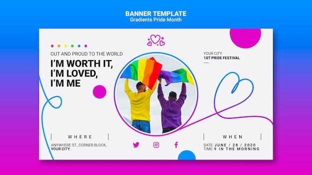 Banner for lgbt pride