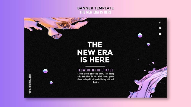 Banner liquid design template