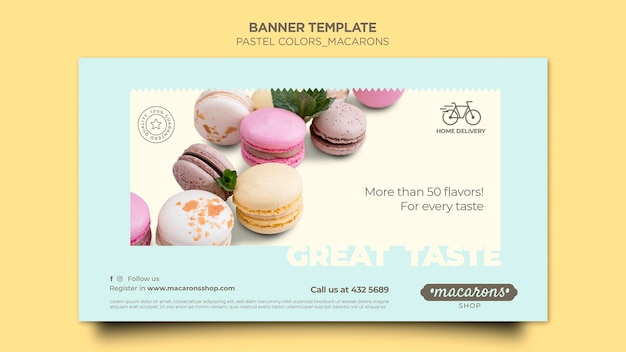 Banner macarons shop template