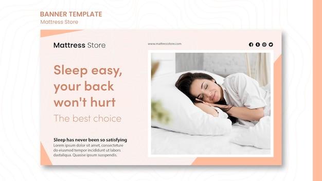 Banner mattress store promo template