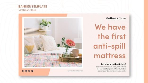 Banner mattress store template