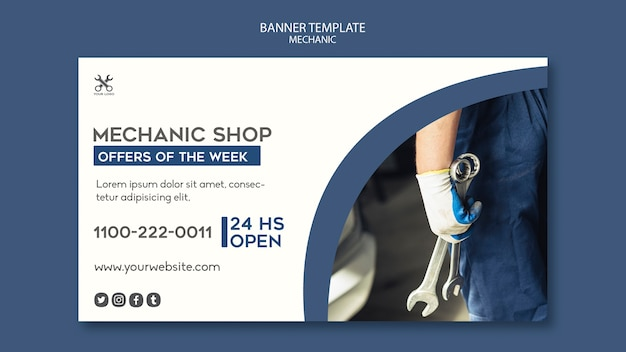 Banner mechanic shop template