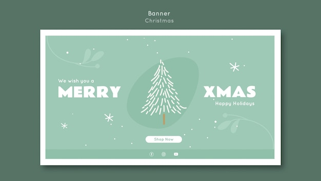Banner merry xmas template