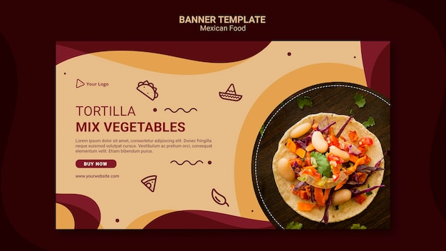 Banner mexican restaurant template