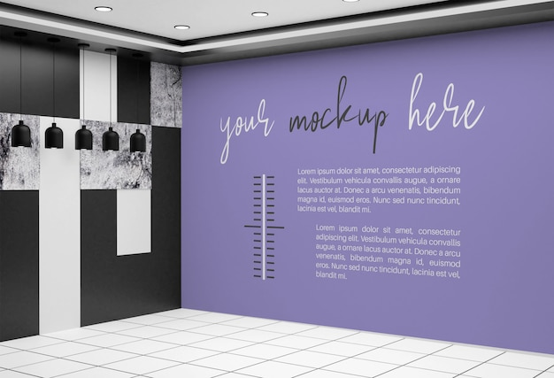 Баннер макет на стену комнаты
