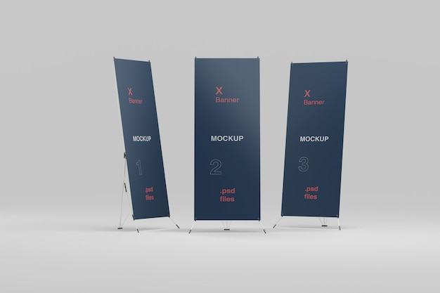 Banner mockup set