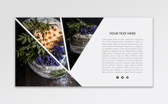 Banner mockup with image