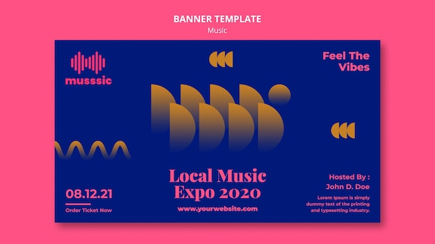 Banner music expo template