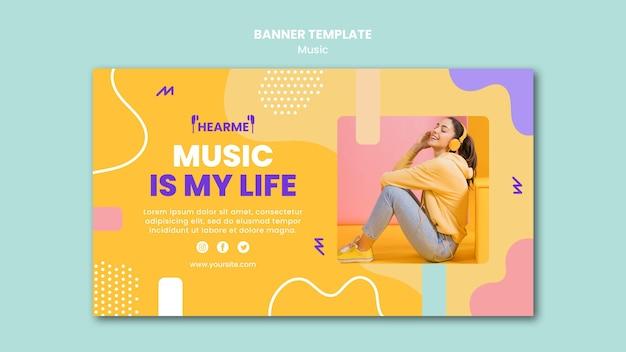 Banner music platform template