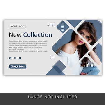 Banner new collection clean and modern template