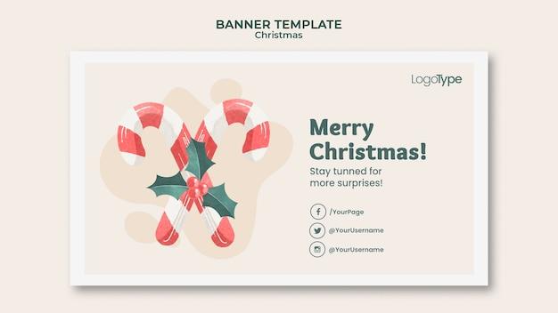 Баннер интернет-рождественских покупок шаблон