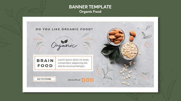 Banner organic food template
