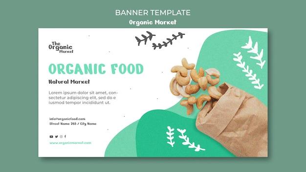 Banner modello di alimenti biologici