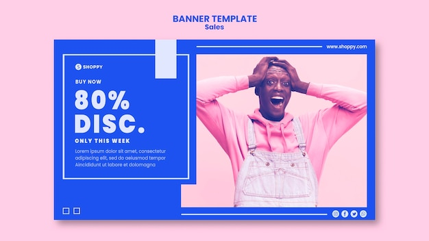 Banner outlet sale template