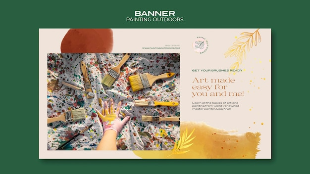 Banner painting outside ad template