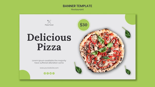 Banner pizza restaurant template