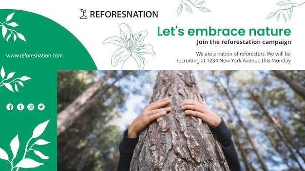 Banner reforestation ad template