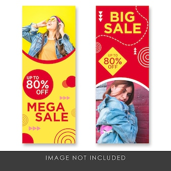 Banner rollup mega sale modern and fun template