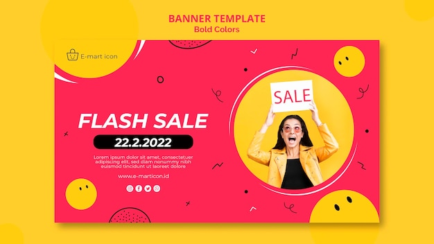 Banner sale ad template
