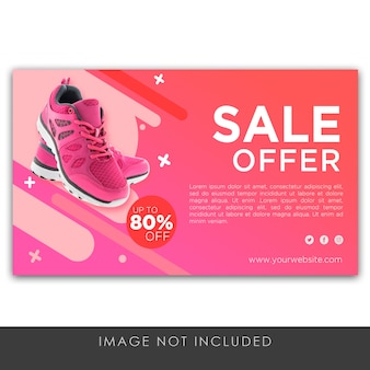 Banner sale offer violet modern template