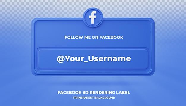 Значок поиска баннера facebook 3d визуализации баннера изолированные Premium Psd